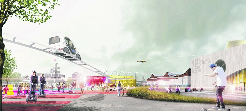 Takto by za několik let mělo vypadat muzeum dopravní techniky u hlavního nádraží v Přívoze. Počítá se i s řadou atrakcí.