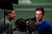 Utkání kvalifikace Davisova poháru Česká republika - Nizozemsko, dvouhra, 2. února 2019 v Ostravě. Na snímku (vpravo) Jiří Lehečka.
