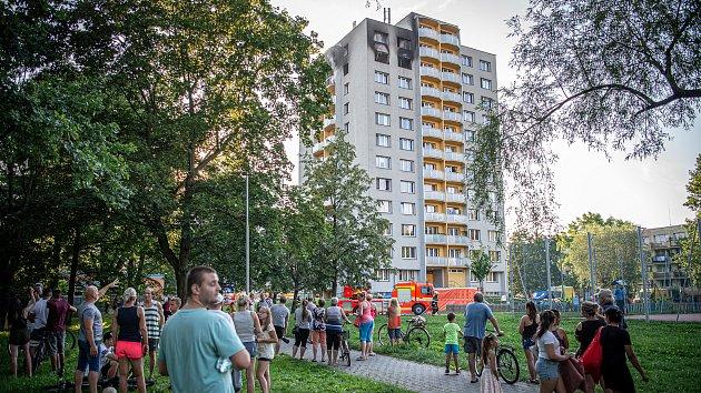 Bohumín, tragický požár, Nerudova ulice, 8. srpna 2020