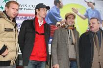 V neděli 1. března přijeli tenisté, kteří se zúčastní Davis Cupu, na vlakové nádraží v Ostravě-Svinově.