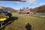 Tragická dopravní nehoda u Lichnova, sobota 21. listopadu 2020.