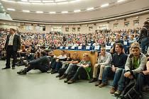 Aula Vysoké školy báňské – Technické univerzity Ostrava. Ilustrační foto.