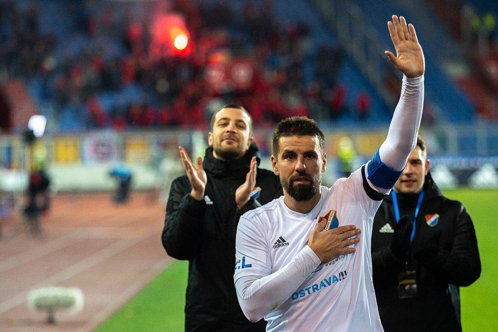 Utkání 20. kola první fotbalové ligy: Baník Ostrava - Sparta Praha, 14. prosince 2019 v Ostravě. Na snímku Milan Baroš.