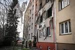 Zdemolovaný byt po výbuchu.