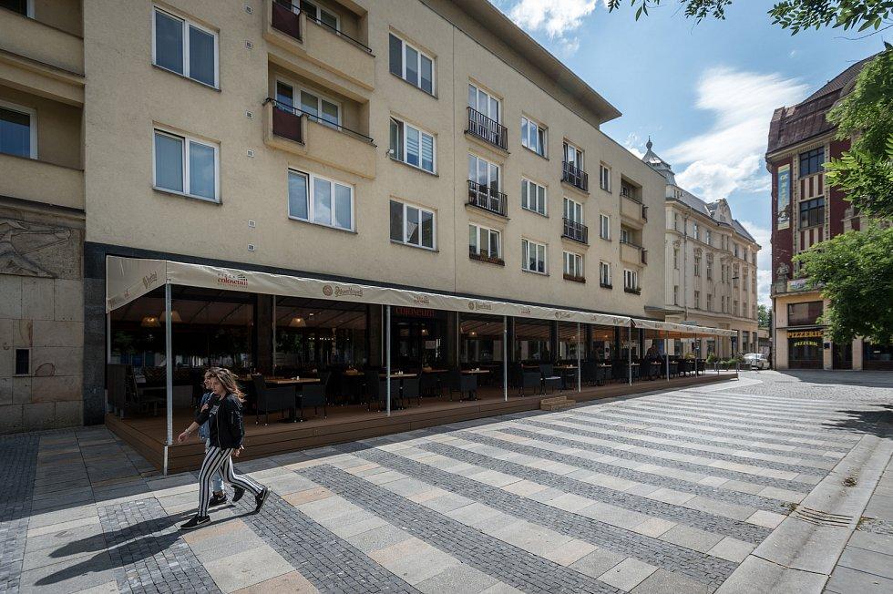 Masarykovo náměstí, 12. července 2019 v Ostravě. Na snímku Coloseum.