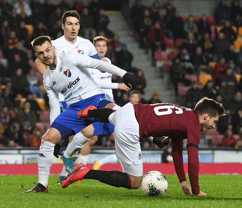 Milan Jirásek - Čtvrtfinále MOL Cup AC Sparta Praha - FC Baník Ostrava, Generali Česká pojišťovna Aréna, Praha, 4. března 2020.