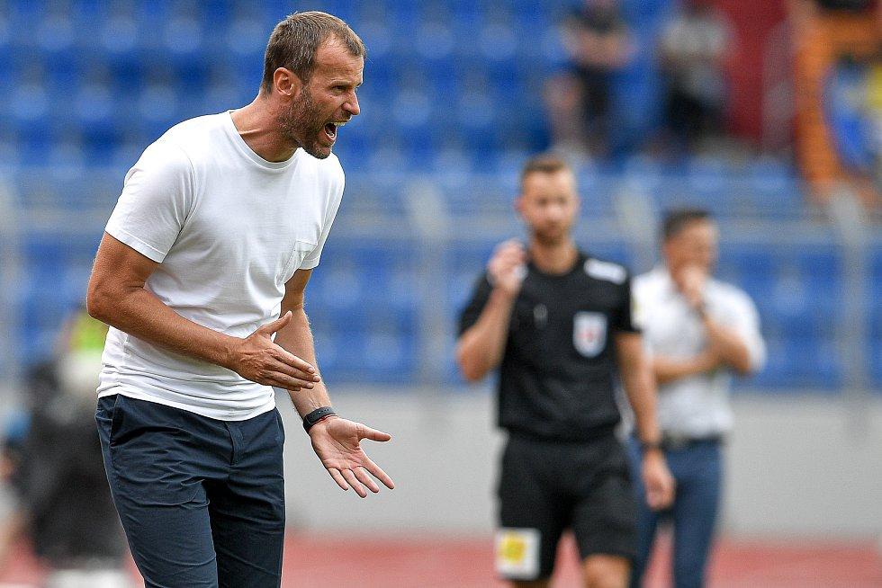 Utkání 2. kola první fotbalové ligy: Baník Ostrava - Fastav Zlín, 1. srpna 2021 v Ostravě. Trenér Ostravy Ondřej Smetana.
