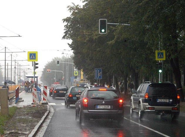 Semafory na Opavské ulici v Ostravě-Porubě