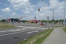 Křižovatka Mongolská - Sjízdná v Ostravě-Porubě.