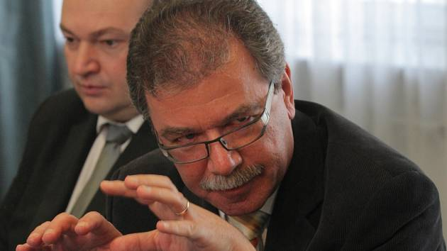 Hlavní hygienik Michael Vít na konferenci v ostravském hotelu Atom.