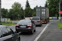Dopravní komplikace v Hrabové.