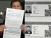 Smlouvy, které podle obchodníků smlouvami nebyly, ukázala Deníku Pavlína Sojčíková Dernická (na snímku vlevo). Podomní prodejci měli průkazky společnosti X Energie, ta však odmítla, že by je kdy vydala.
