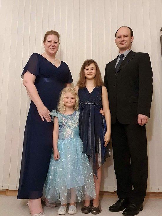 Andrea Steckerová s rodinou.