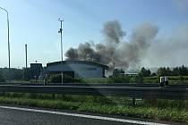 Požár v ostravské spalovně.