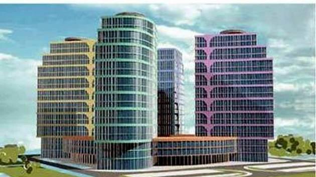 Vizualizace zamýšlené stavby zvané Větrník