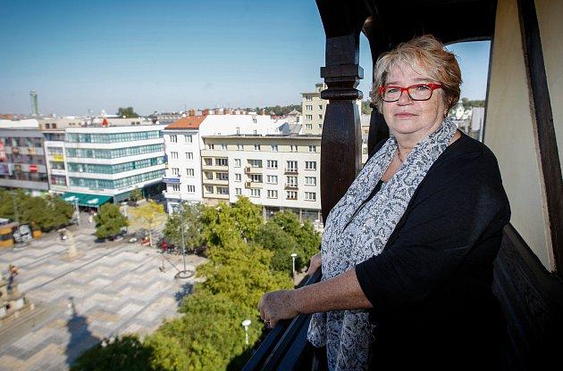 Jiřina Kábrtová - ředitelka muzea vOstravě.