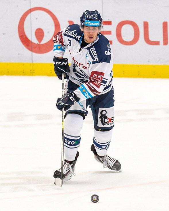 Utkání 17. kola hokejové extraligy: HC Vítkovice Ridera - Rytíři Kladno, 3. listopadu 2019 v Ostravě. Na snímku Daniel Krenželok.
