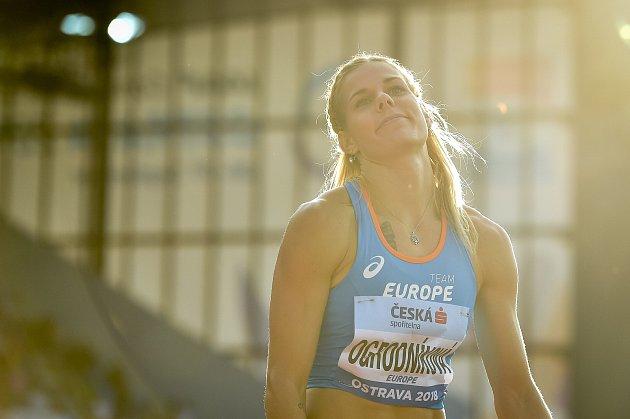 Kontinentální pohár vatletice, oštěp ženy, 9.září 2018vOstravě. Nikola Ogrodníková.