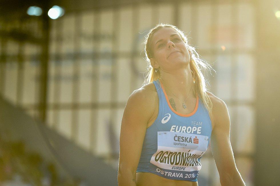 Kontinentální pohár v atletice, oštěp ženy, 9. září 2018 v Ostravě. Nikola Ogrodníková.