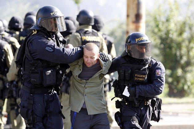 Policie vOstravě dohlížela hned na několik demonstrací najednou.