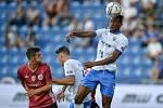 Utkání 2. kola první fotbalové ligy: FC Baník Ostrava - SK Dynamo České Budějovice, 28. srpna 2020 v Ostravě. Střed Muhamed Tijani z Ostravy.