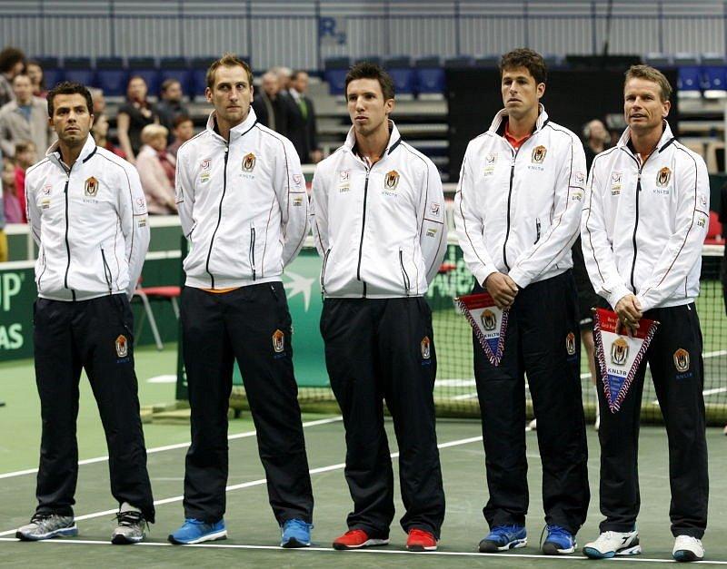 Davis Cup v Ostravě. Sestava Nizozemců.