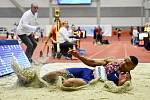 Mezinárodní halový atletický mítink Czech Indoor Gala 2020, 5. února 2020 v Ostravě. Skok daleký, muži Dan Bramble z Velké Británie.