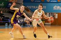 Dohrávka 11. kola Ženské basketbalové ligy: SBŠ Ostrava - Slovanka MB, 26. ledna 2020 v Ostravě.