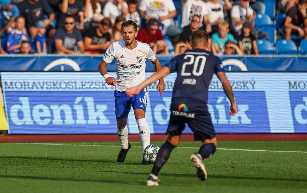 Utkaní 7. kola fotbalové FORTUNA:LIGY: FC Baník Ostrava - 1. FC Slovácko, 23. srpna 2019 v Ostravě. Na snímku (zleva) Milan Jirásek, Marek Havlík.