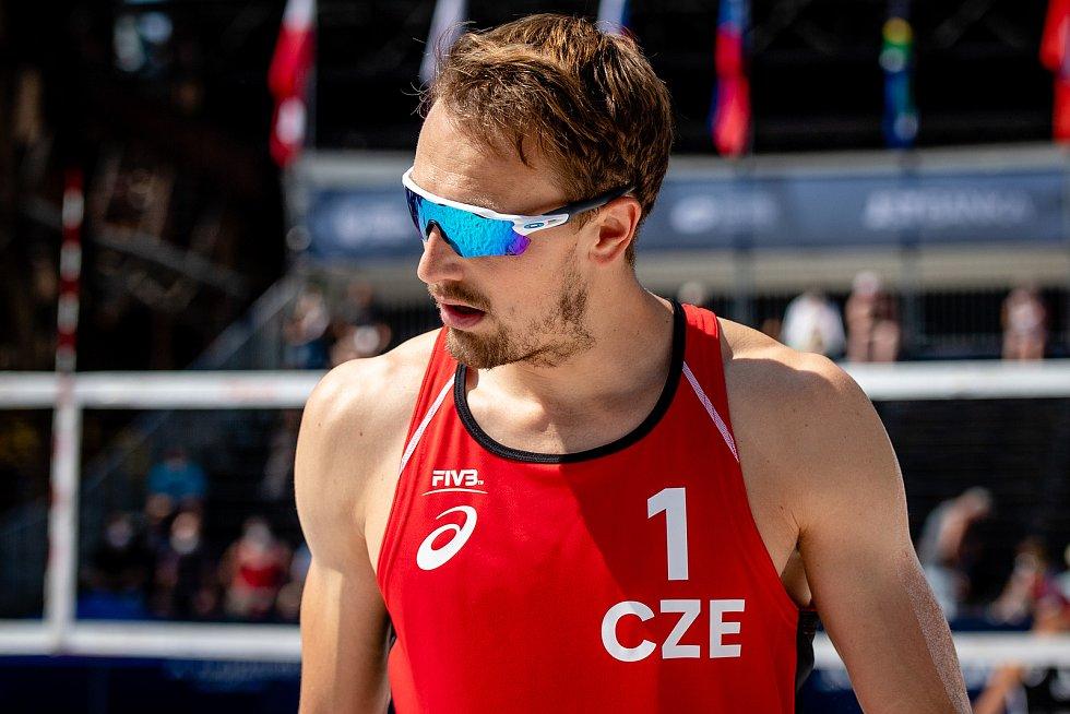 J&T Banka Ostrava Beach Open, 3. června 2021 v Ostravě. Ondřej Perušič (CZE).