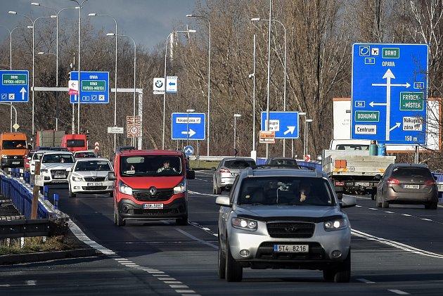 Otevřené mosty na Rudné ulici, 10.prosince 2018vOstravě.