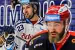 Utkání 39. kola hokejové extraligy: HC Vítkovice Ridera - Mountfield Hradec Králové, 24. ledna 2020 v Ostravě. Na snímku (vlevo) Ondřej Roman.