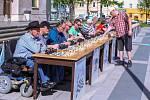 Šachová simultánka v Ostravě 25. dubna 2019.