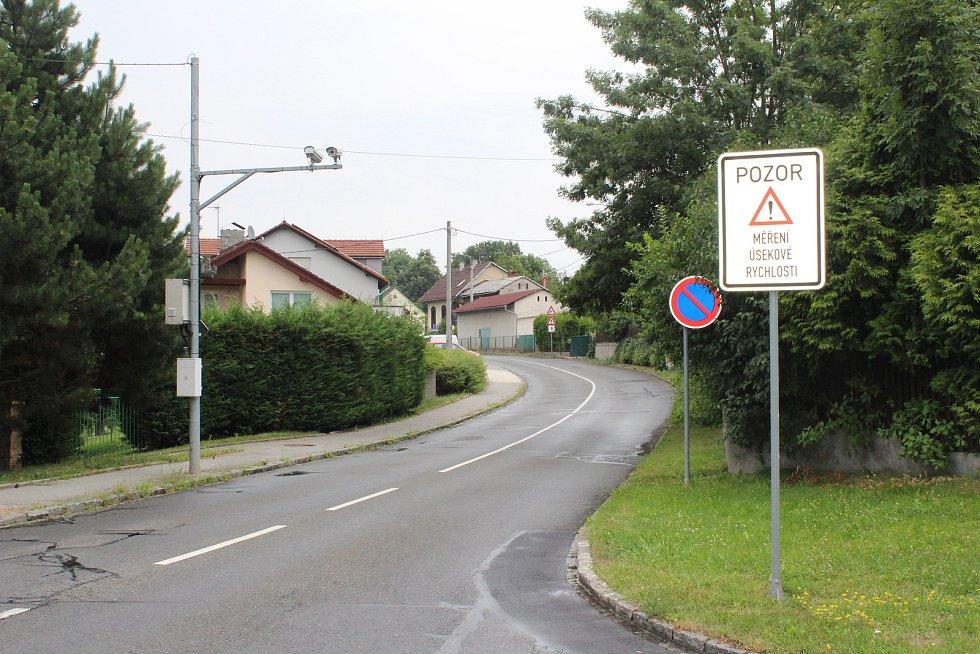 Úsekové měření rychlosti v Třebovicích.