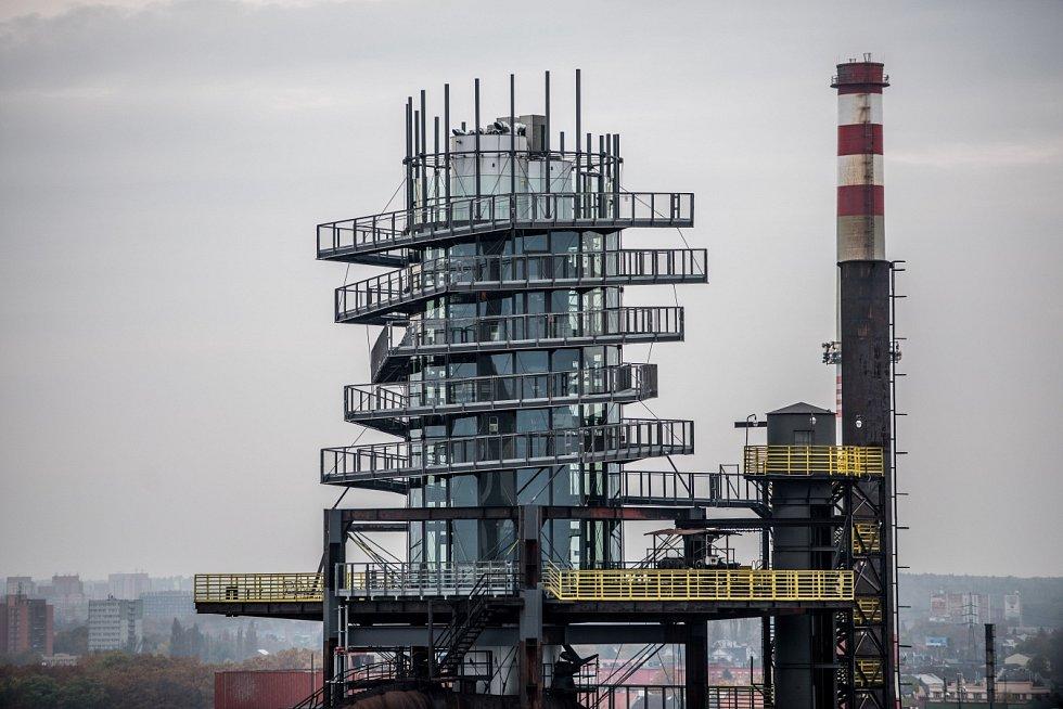 Jedna z nejvýraznějších dominant Ostravy - nástavba vysoké pece Bolt Tower.