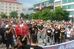 Na druhé demonstraci na Masarykově náměstí bylo přibližně 500 lidí.
