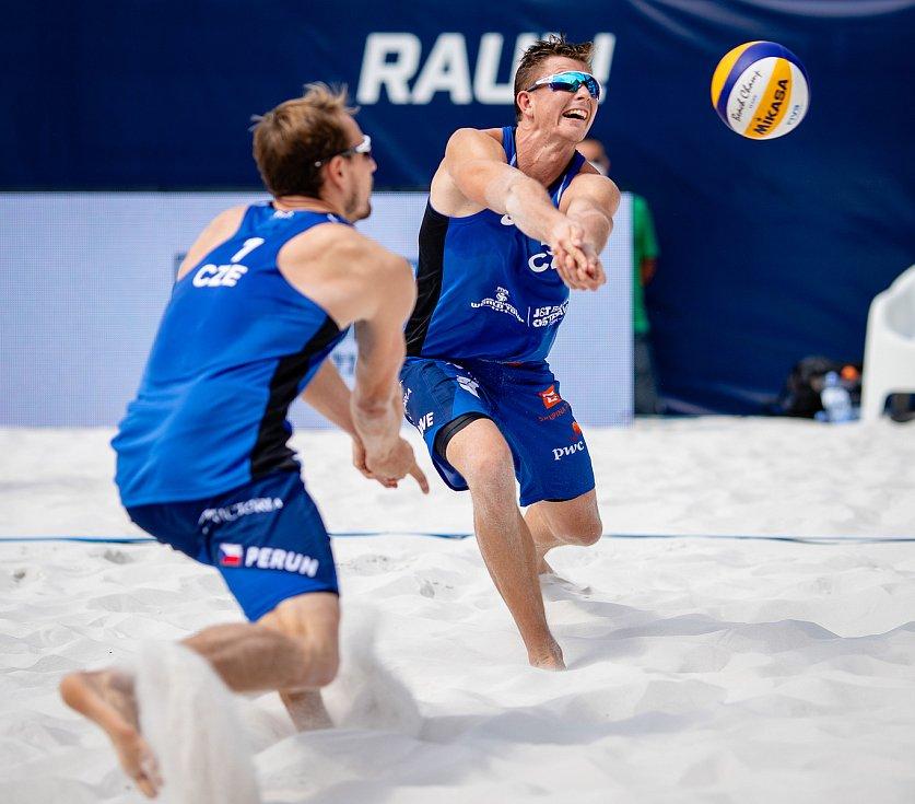 J&T Banka Ostrava Beach Open, 5. června 2021 v Ostravě. David Schweiner (CZE).