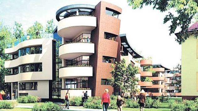 Vizualizace zamýšleného bytového domu na Sadové ulici v Ostravě