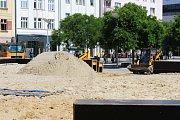 Masarykovo náměstí v Ostravě, červen 2017