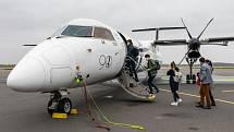 Ve středu 11. listopadu odletěl letiště v Mošnově první spoj na nové pravidelné letecké lince mezi Ostravou a Prahou.