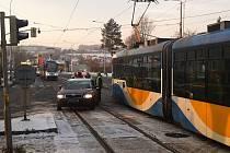 Ranní nehoda v Ostravě-Porubě.