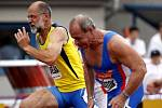 Zlatá tretra Ostrava 2014. 100 metrů muži veteráni.