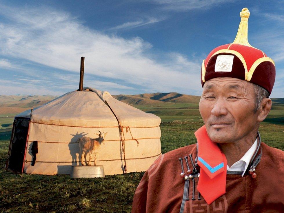 Ukázka z diashow Martina Loewa z Mongolska.