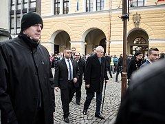 Prezident republiky Miloš Zeman ve Frenštátě pod Radhoštěm. Ilustrační foto.