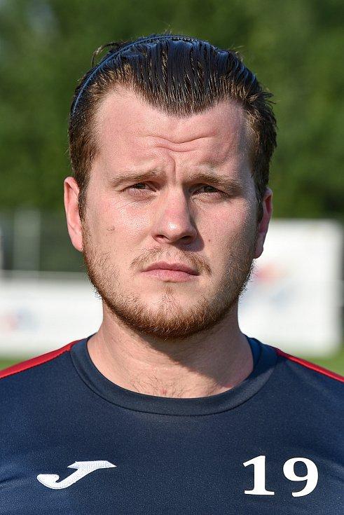 Fotbalový klub TJ Unie Hlubina, 7. srpna 2020 v Ostravě. Petr Petrov, záložník