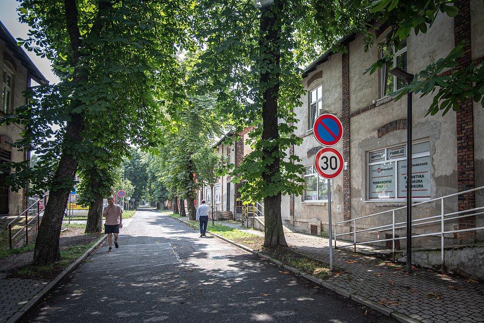 Městská část Mariánské Hory a Hulváky, okolí ulic Bendlova a Slévárenská, 15. července 2021 v Ostravě.