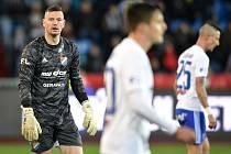 Utkání 20. kola první fotbalové ligy: Baník Ostrava - Sparta Praha, 14. prosince 2019 v Ostravě. Na snímku brankář Baníku Jan Laštůvka.