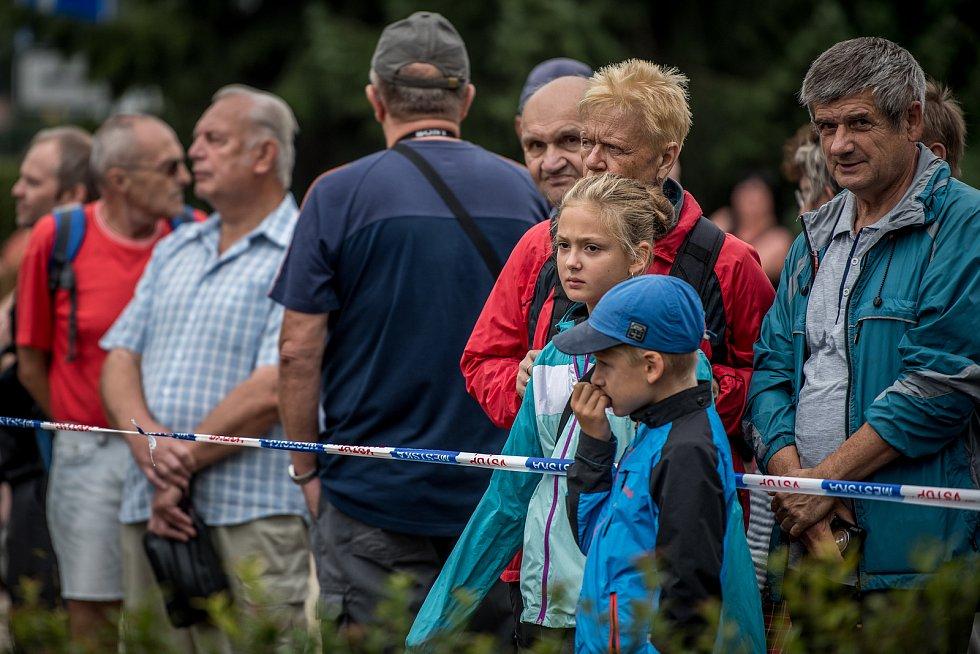 Příprava Slovenské strely v areálu Technického muzea Tatry v Kopřivnici k převozu do Hranic na Přerovsku, 31. srpna 2018.