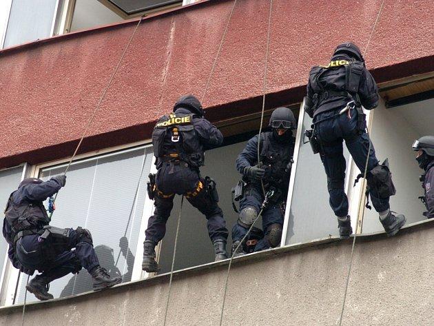 V centru Ostravy se ve úterý 19. února  uskutečnilo další velké policejní cvičení.
