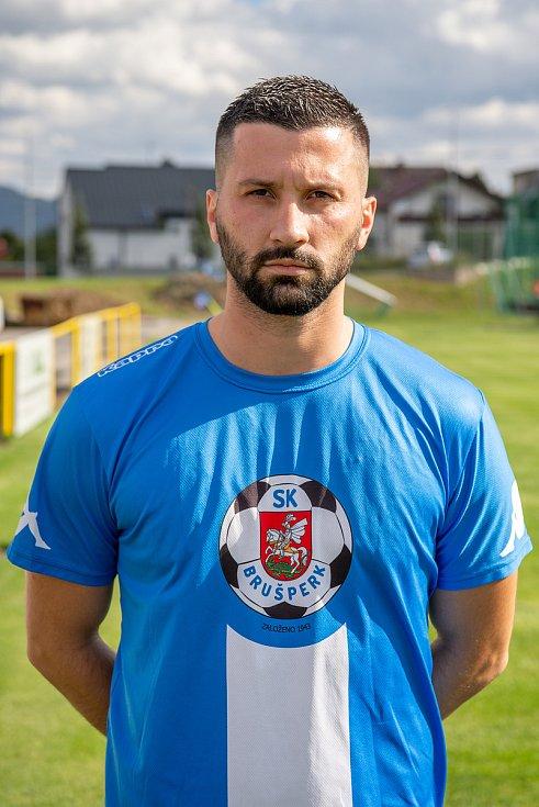 Fotbalový klub - Spolek SK Brušperk, 26. srpna 2020 v Brušperku. Ilir Preči (útočník)